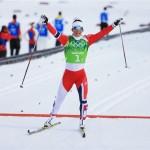 Норвегия (Ингвильд Флюгстад Остберг, Марит Бьорген)  Лыжные гонки. Командный спринт.