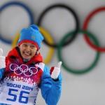 Ольга Вилухина. Биатлон, спринт. Серебро