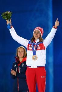 Скелетонистка Елена Никитина - бронзовый призер в скелетоне