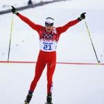 Швейцарский лыжник Дарио Колонья стал обладателем золотой медали в скиатлоне.
