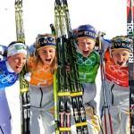 Швеция  Лыжные гонки. Эстафета 4х5 км.