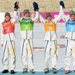 Швеция  Лыжные гонки. Эстафета 4х10 км.